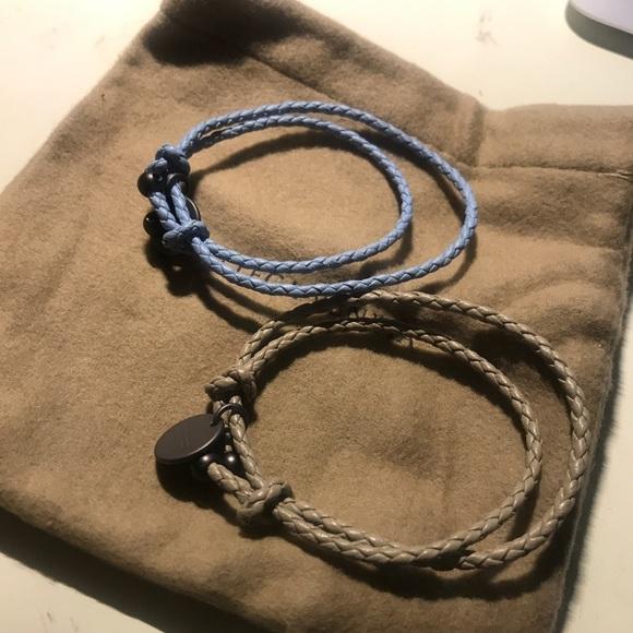 2998441bee7fe4 Bottega Veneta Jewelry | Leather Doubleband Bracelet | Poshmark